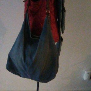 Lucky Brang XL Denim/Leather hobo bag 19X16X4